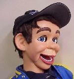 Cardboard Ventriloquist Dummy Head