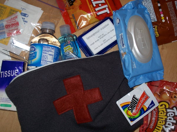 First Aid Kit (with Instructions for Making a Lined Zipper Pouch)