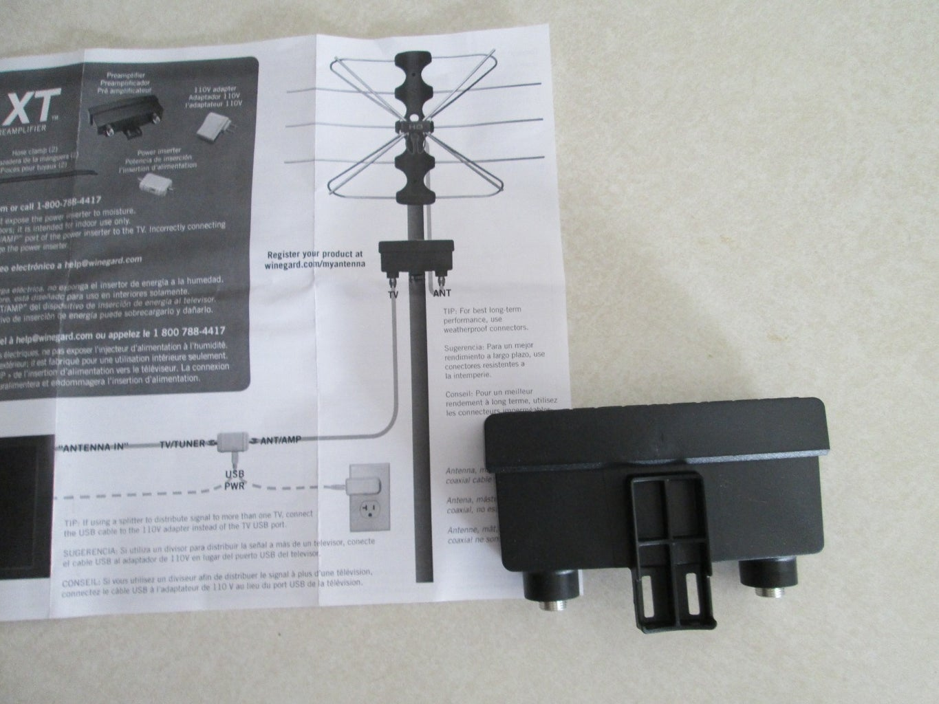 Test 1 -  Preamplifier on Existing Antenna