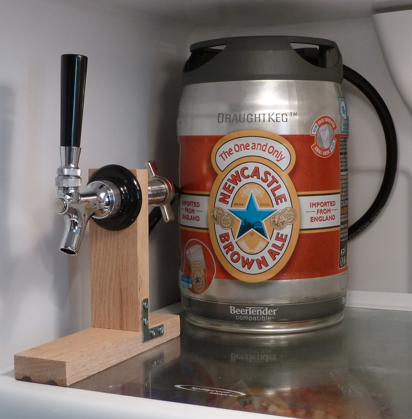 Tap a Draught Keg Inside Your Fridge