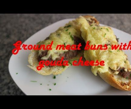 Ground Meat Buns With Gouda Cheese Recipe