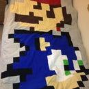 Mario & Sonic Block Quilt
