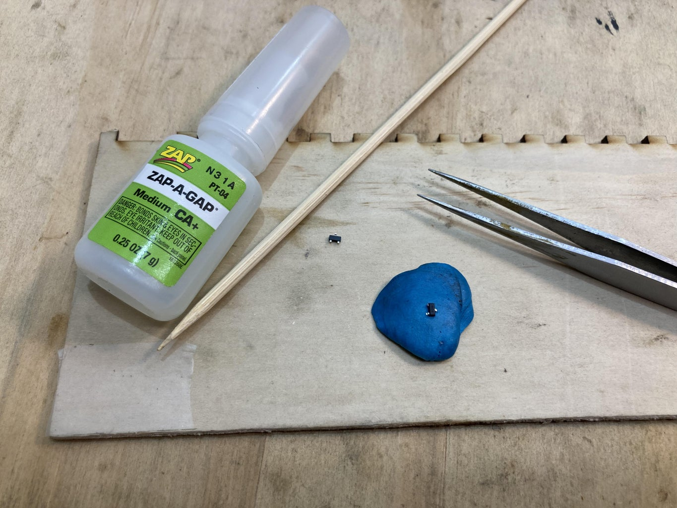 Freeforming the Circuit 1.5: Gluing the Circuit Together