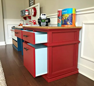 Install Drawers and Finish