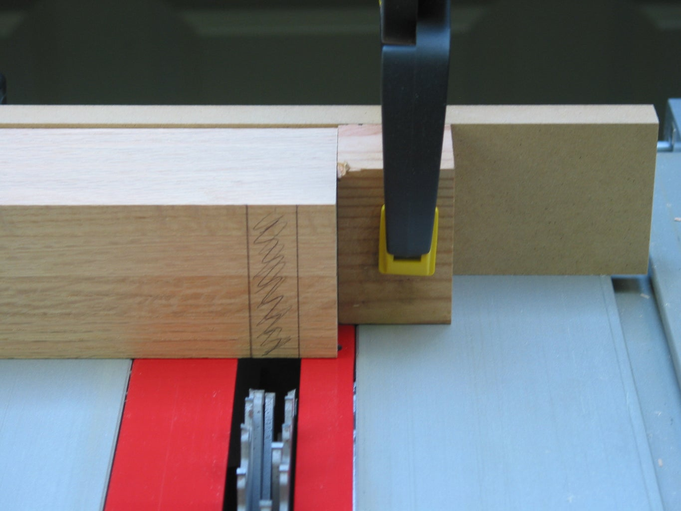 Creating the Legs - Cutting Dados for the Shelves