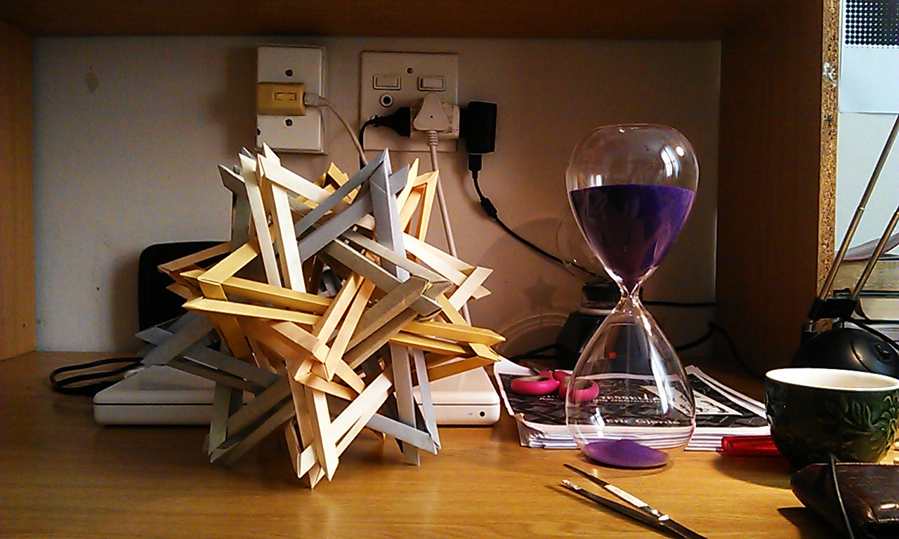 K2 - complex modular origami sculpture - no glue