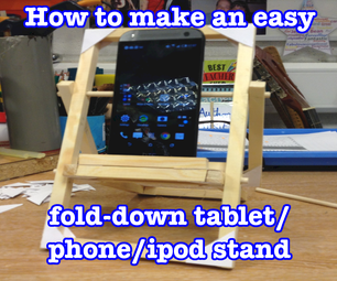 DT Project: How to Make an Easy Fold-down Phone or Tablet Stand