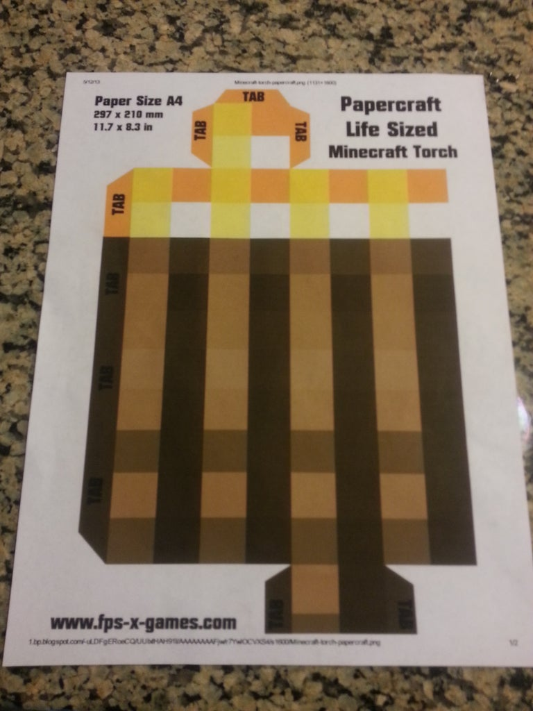 Make It Look Like a Minecraft Torch!