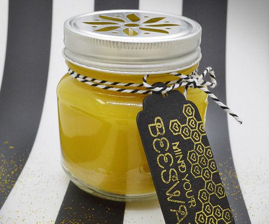 DIY: Mason Jar Beeswax Candle