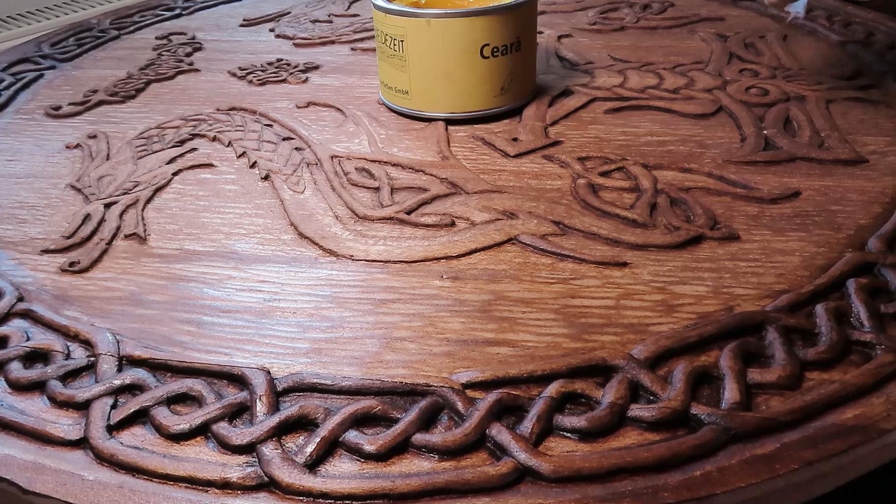 Final Step: Wood Waxing.