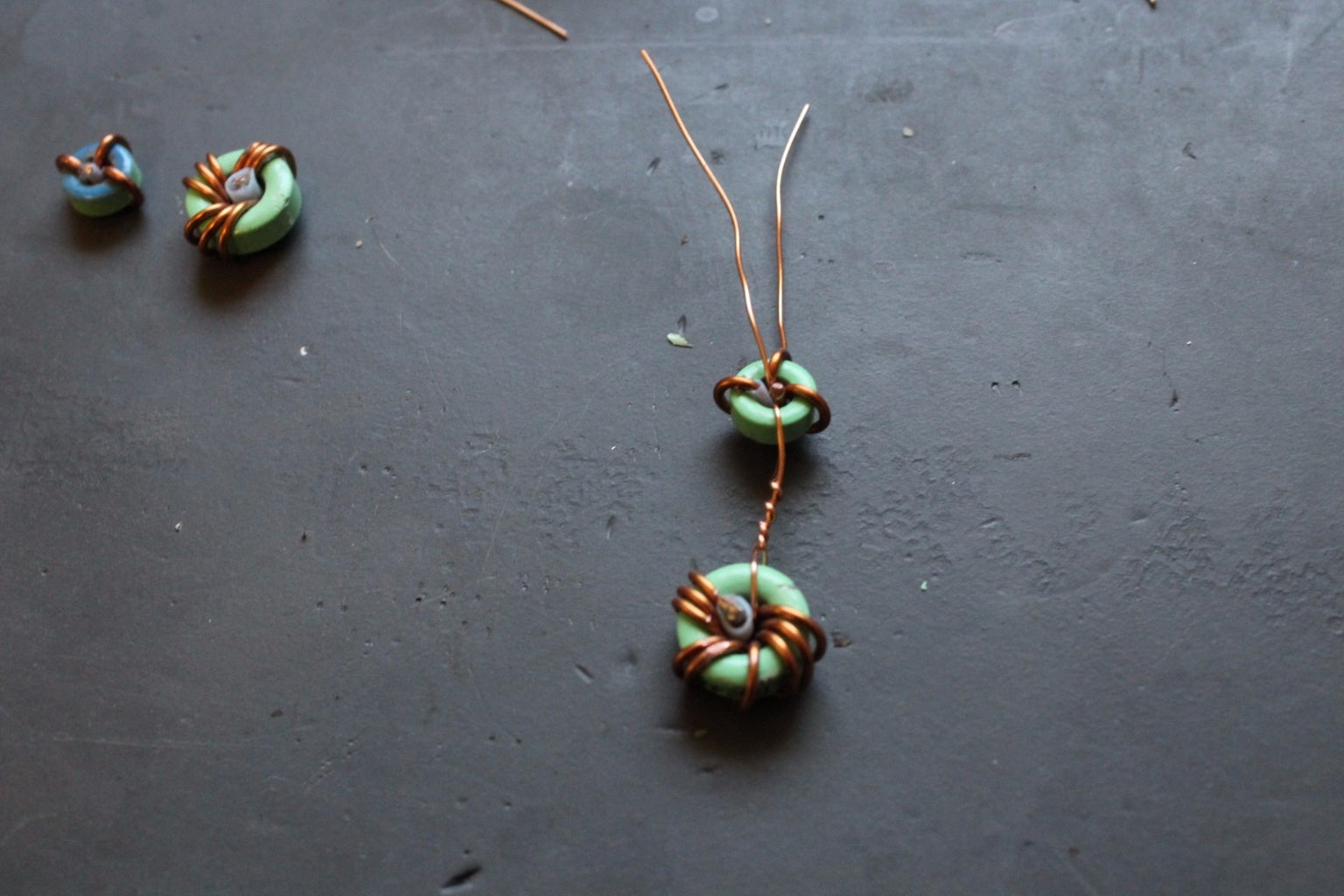 Two-Tiered Inductor Earrings
