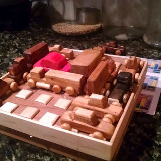 Grid-Blocked: Wooden Logic Puzzle