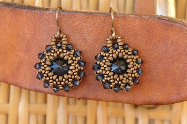 Sidonia's Handmade Jewelry - Rivoli Earrings Tutorial