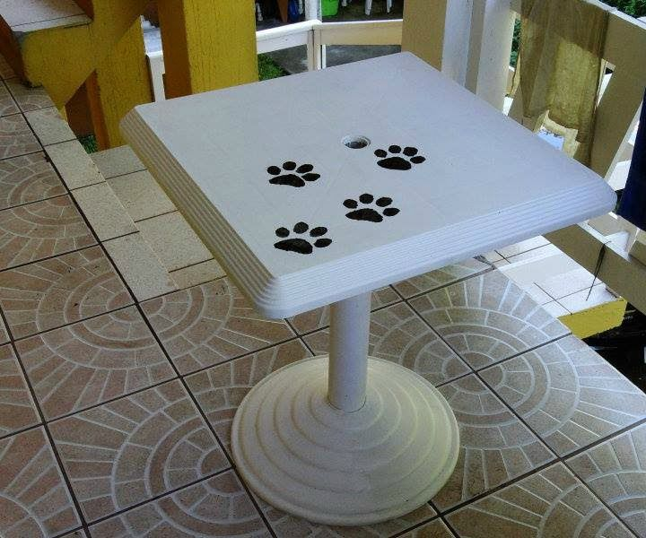 New Life for Old PVC Garden Table
