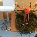 Cardboard Reindeer Head Light Show