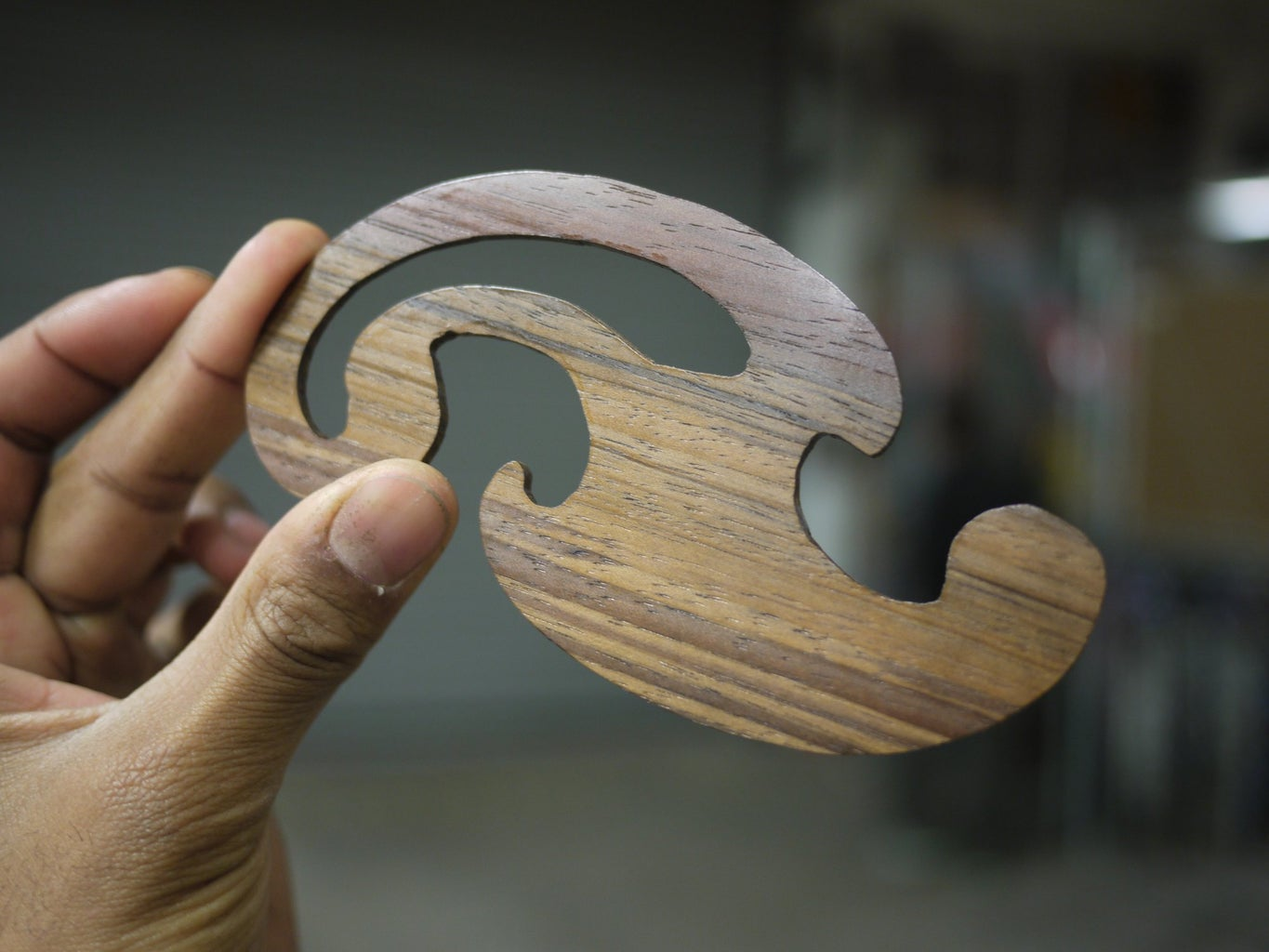 Wooden French Curves - Made at Techshop