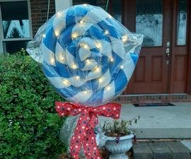 巨型棒棒糖圣诞装饰品