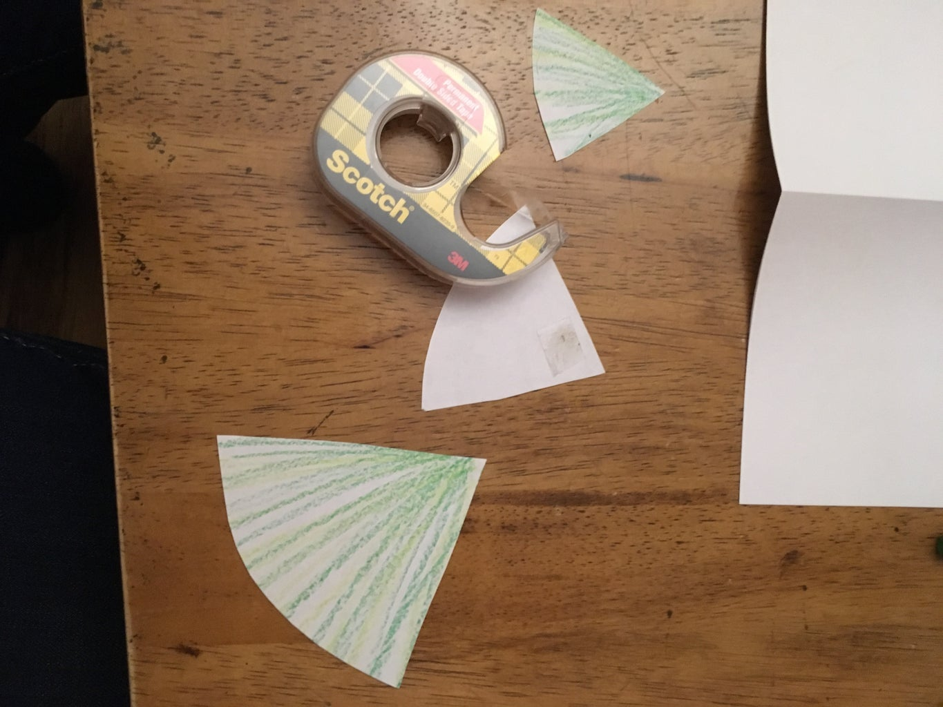 Tape the Tree Pieces