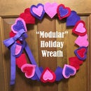 """Modular"" Holiday Wreath"