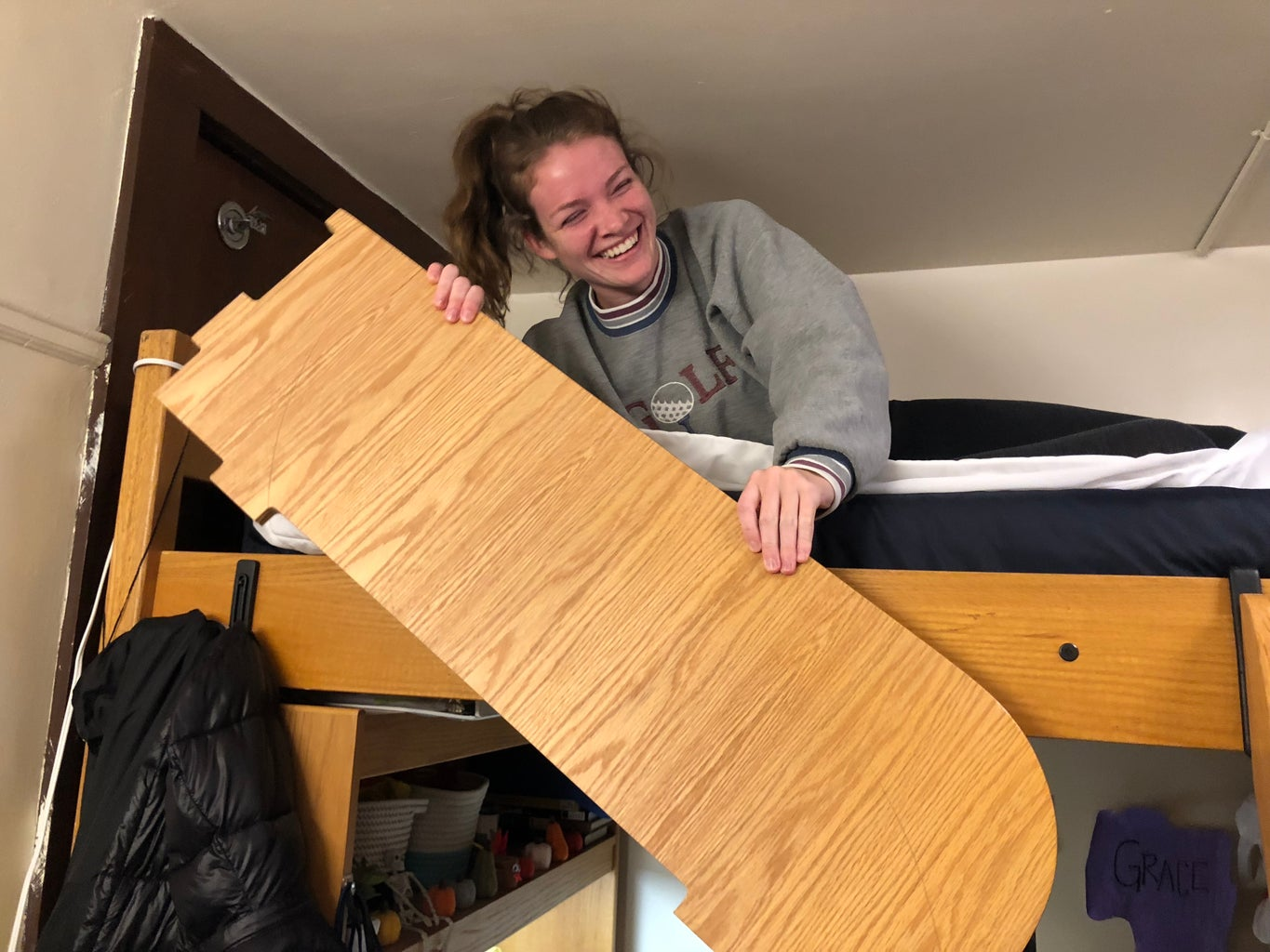 Prepare Lofted Bed for Making