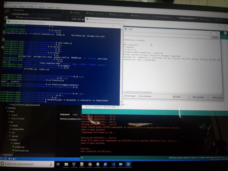 Videos/Imagens Testes Dragonboard + APP + IR