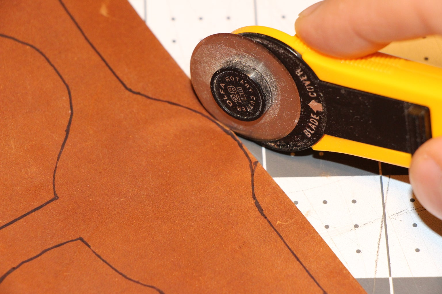 Transferring Template and Cutting Out the Leather