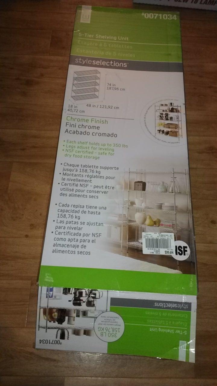Heat Lighting and Shelf Assembly