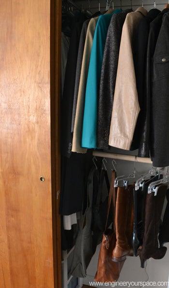 DIY Double Closet Hanging Rod