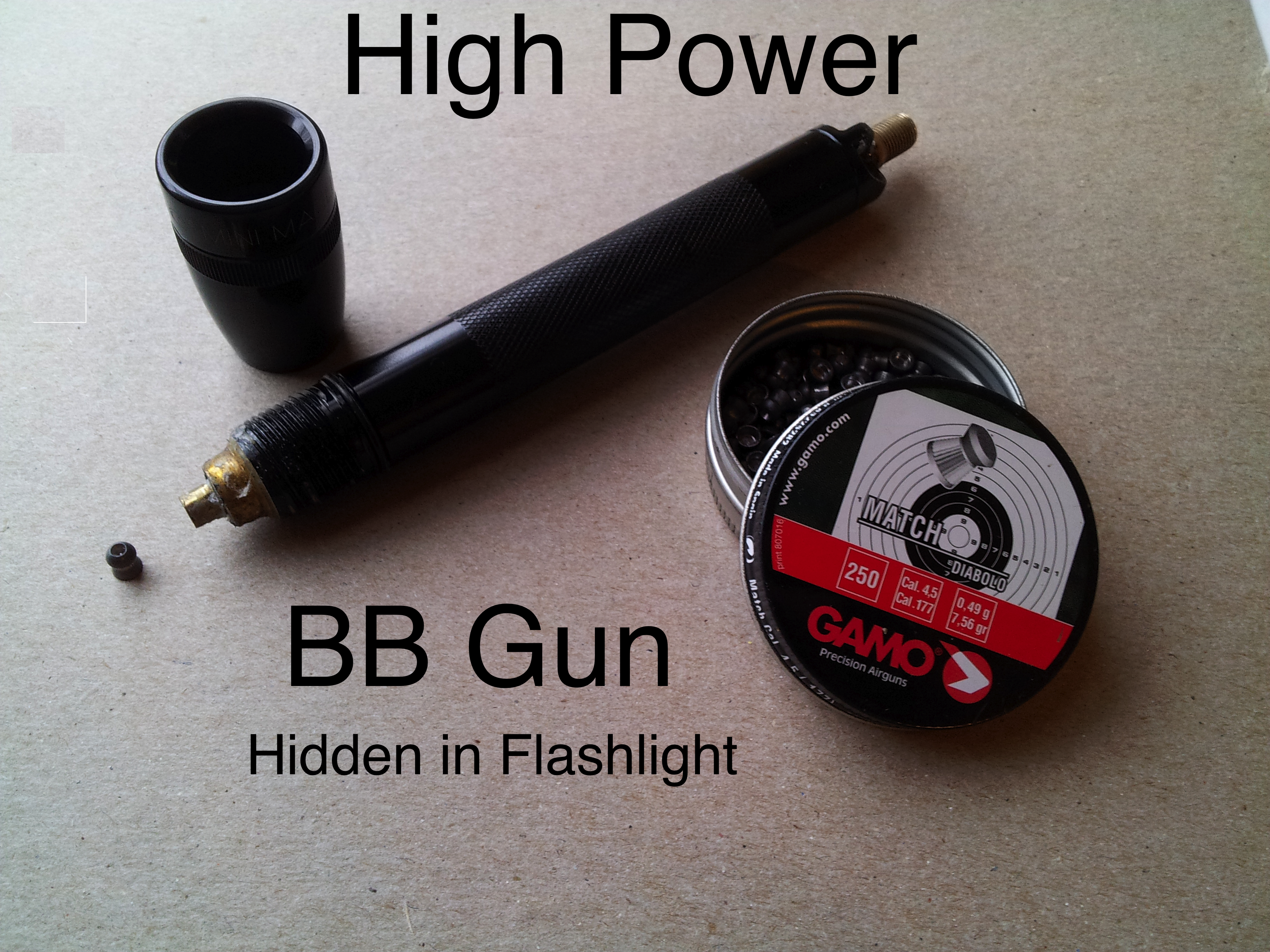 Flashlight Air Gun (Can break Sound Barrier)