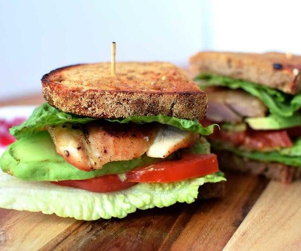 Gourmet Chicken Avocado Lettuce and Tomato (A.L.T.) Sandwich