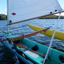 Designing and building a light, car-top-able outrigger sailing canoe [March 2016 update]
