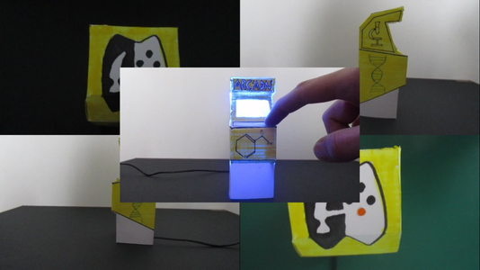 DIY Arcade Machine With Single-ply Cardboard !