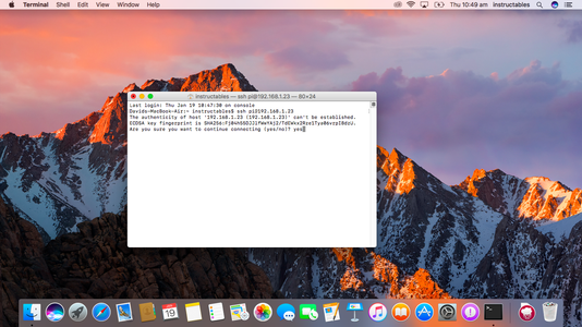 Remotely Connect to Your Pi Using Mac