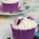 Butterfly Swarm Coconut Cupcakes