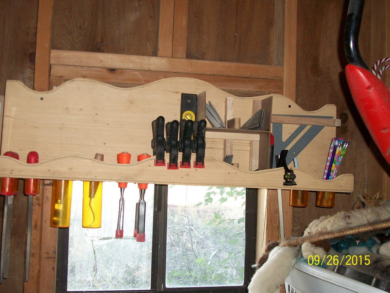 Shop Trash to Treasure Woodworking Tool Shelf