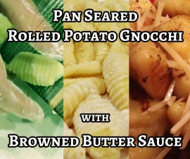 Making a Gnocchi Rolling Paddle & Pan-Seared Gnocchi With Browned Butter Sauce