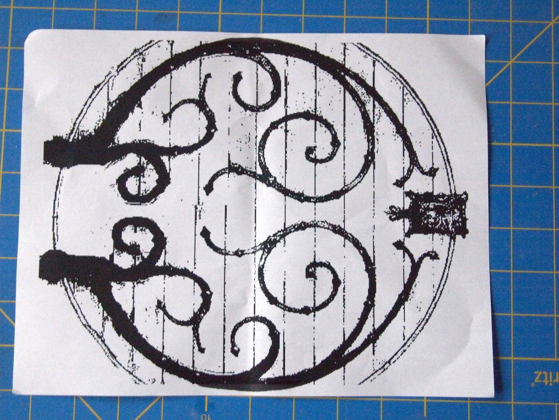 Ironwork on the Inside of the Door