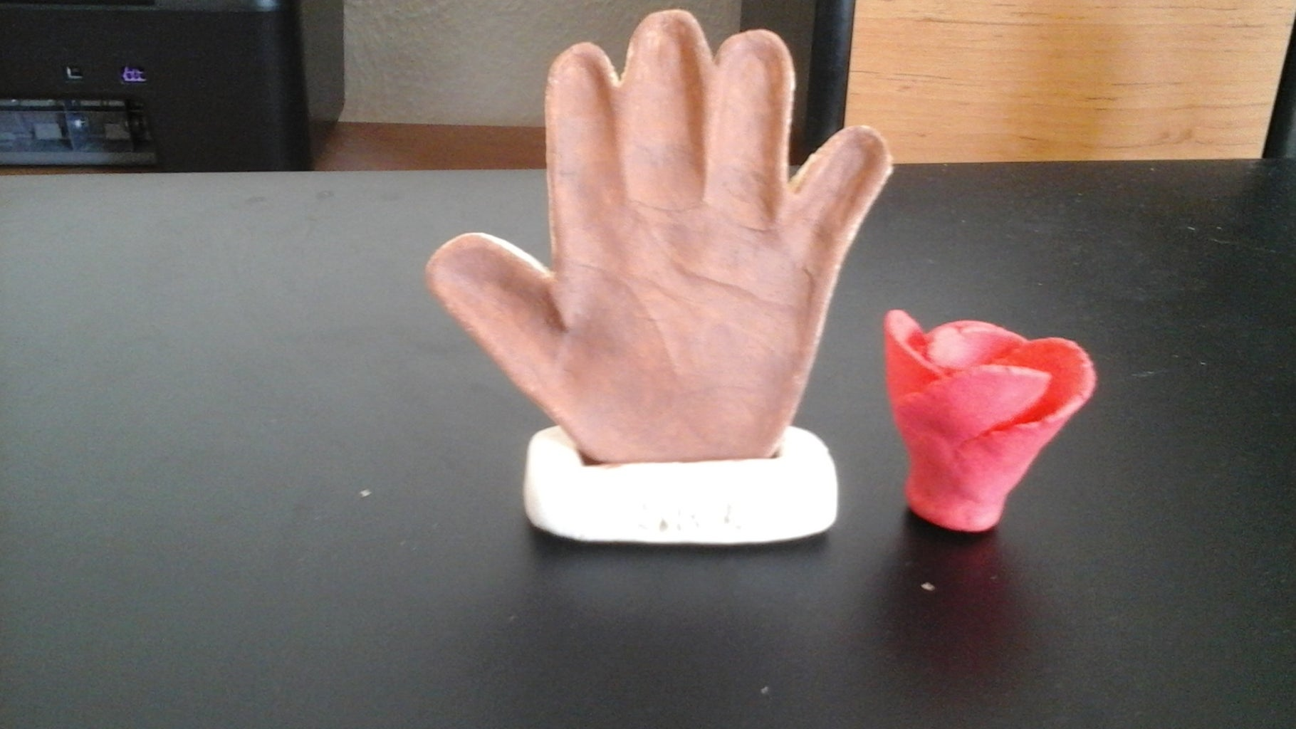 Preserving Salt Dough Baby Hand and  Foot Print Wall Hanging Sweet Memory: