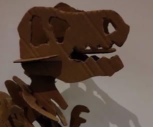 Large Cardboard Dinosaur Skeleton