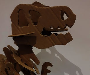 Large Cardboard Dinosaur Skeleton