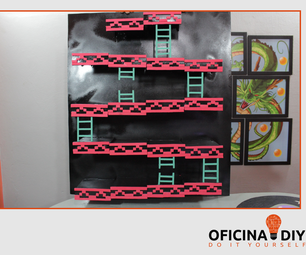 Shelf Actions  Figures of Donkey Kong and Mario Bros