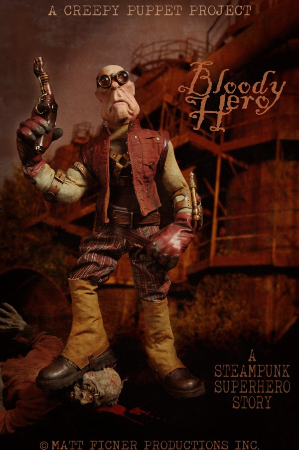 "Building ""The Bloody Hero""  A Steampunk Superhero Puppet"