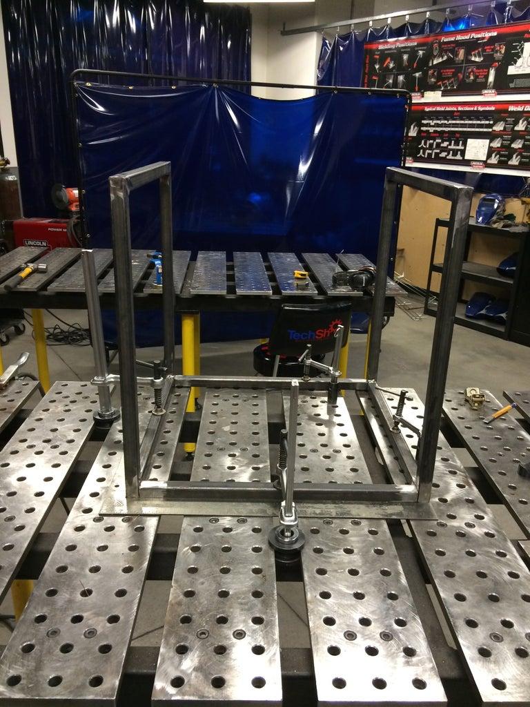 Table Base Fabrication - Welding the Base
