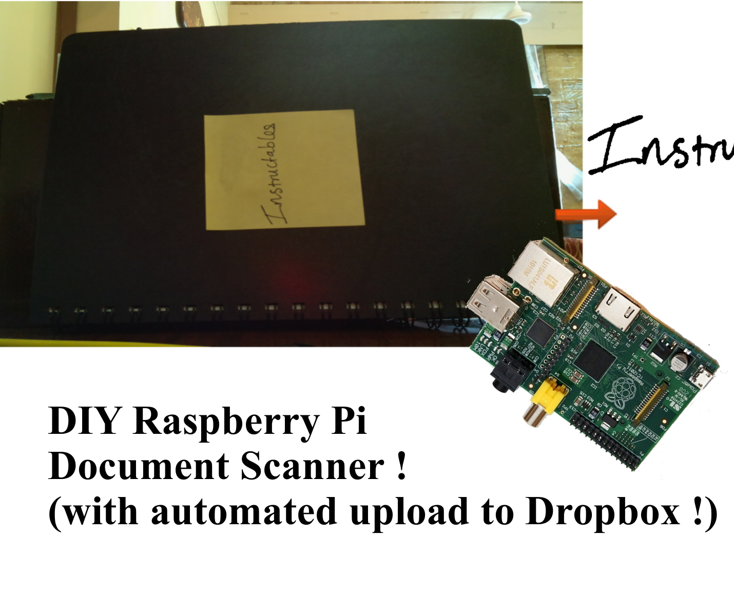 Raspberry Pi Based Document Scanner With Automatic Upload to Dropbox.