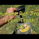 Humane Live Rat Trap From Trash
