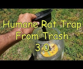 Humane Live Rat Trap From Trash