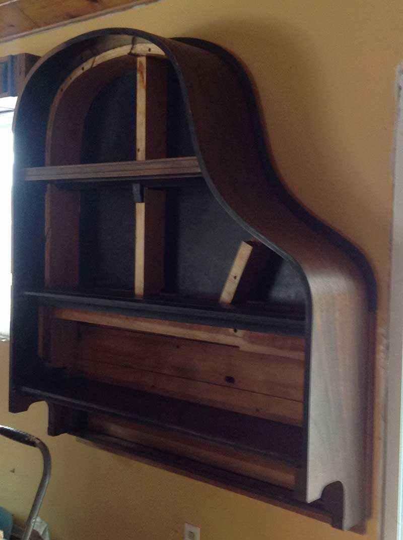 Building a Piano Bookcase for Free!