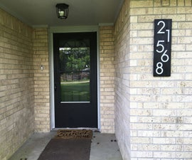 Simple House Number Sign