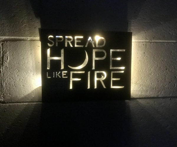 Angels & Airwaves Inspired Sign Using a Scroll Saw
