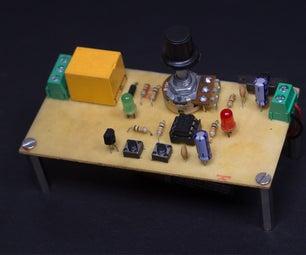 Adjustable 555 Timer Relay Switch | Monostable Multivibrator Circuit